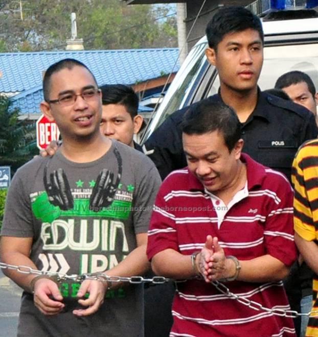 Mohd Aminuddin (kiri) dan Zuhairul (kanan) dijatuhi hukuman gantung oleh Mahkamah Tinggi Kangar, semalam. — Gambar Bernama