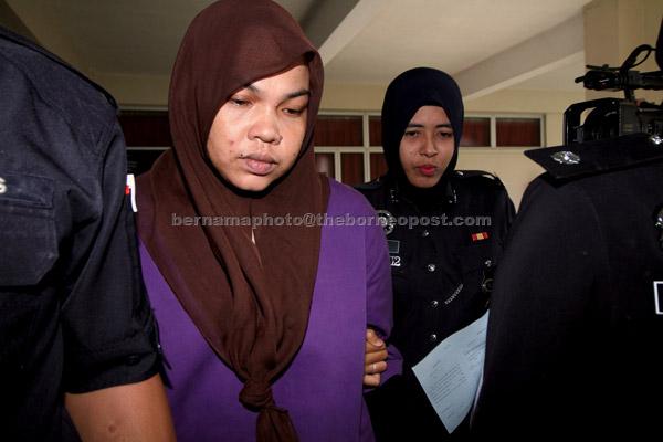 Nurfauzilah dijatuhi hukuman penjara tiga bulan oleh Mahkamah Majistret Batu Gajah semalam atas pertuduhan membuat laporan palsu kononnya dia diculik pada 3 Mei lepas. — Gambar Bernama
