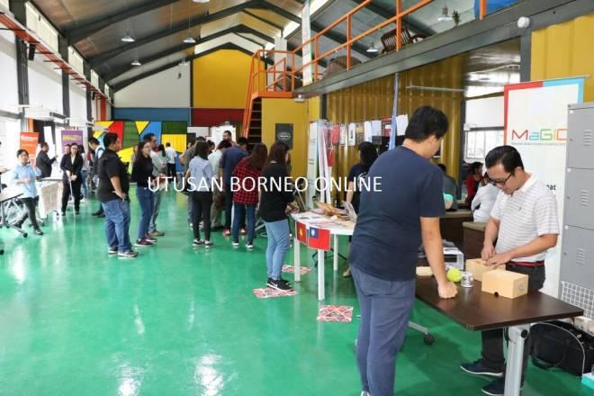Suasana Pusat Inovasi dan Kreativiti Global Malaysia di Borneo 744, Bintawa Kuching.
