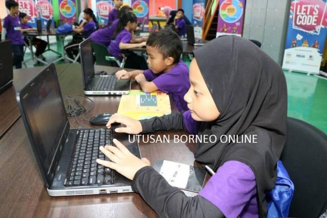 Ruang IT untuk pelajar sekolah turut disediakan.