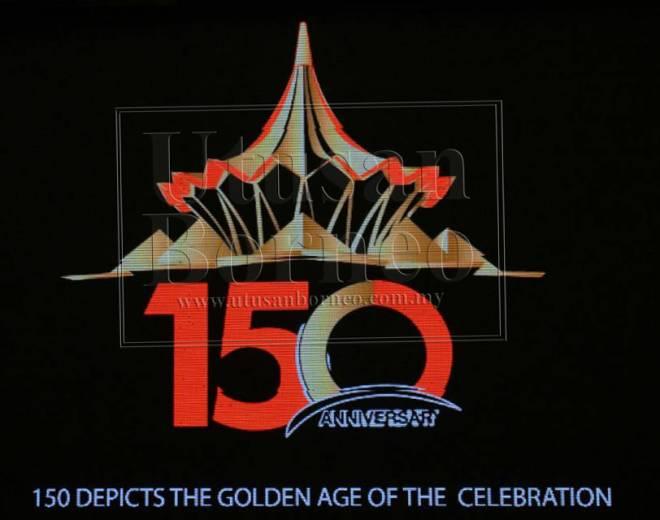 Logo ulang tahun ke-150 DUN Sarawak yang dilancarkan hari ini.