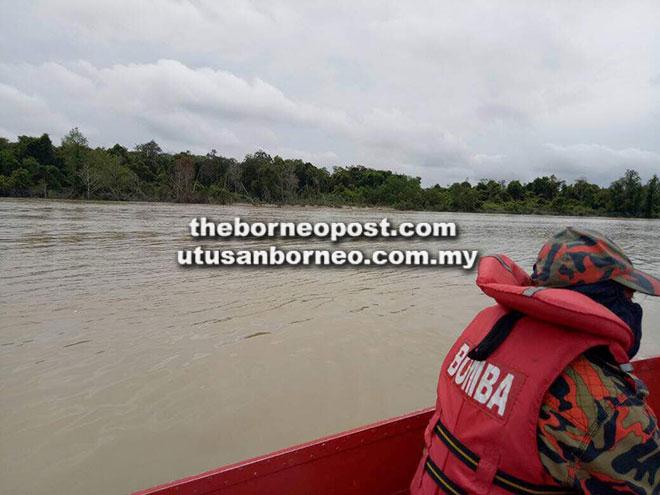 Sungai di mana kedua-dua mangsa dilaporkan hilang.