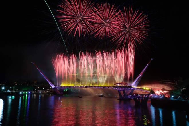 Jambatan Darul Hana ketika dirasmikan pada 11 November lalu.