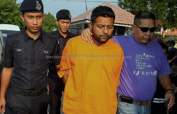 Mohammad Abdullah didakwa di Mahkamah Majistret semalam atas kesalahan membunuh Nur Aina hujung bulan lepas. — Gambar Bernama