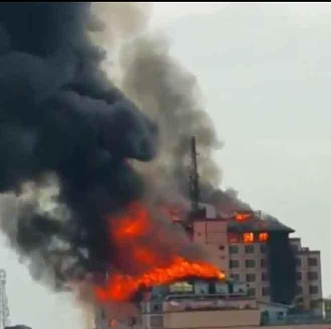 Kebakaran didakwa berlaku di Miri sebenarnya adalah berita palsu.