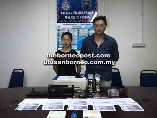 Kedua-dua suspek ditahan untuk siasatan lanjut.