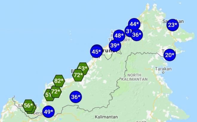 Jerebu Tujuh Tempat Di Sarawak Catat Ipu Sederhana Utusan Borneo Online