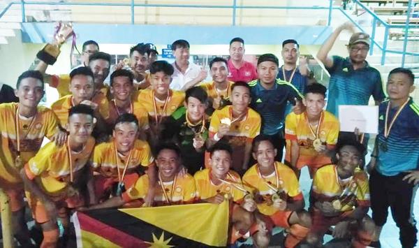 TEAM Academy Miri muncul juara Bawah 16 Tahun Pertandingan Bola Sepak Jemputan Majlis Sukan Labuan.