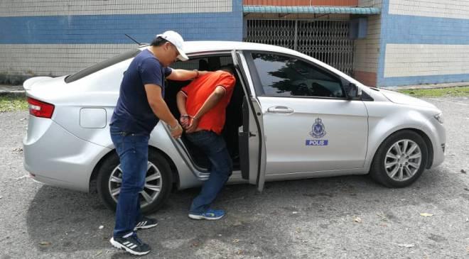Suspek diberkas polis di Kota Samarahan kini direman empat hari.