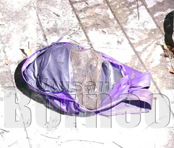 BEG sandang berisi batu yang dipakai mangsa ketika ditemukan di Sungai Sembulan.