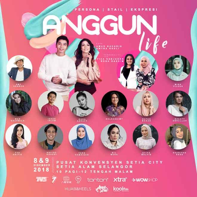 Temui ramai selebriti tempatan di festival Anggun Life akan singgah di Pusat Konvensyen Setia City, Setia Alam Selangor pada hujung minggu ini (8 & 9 Disember 2018).