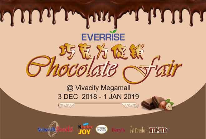 Everrise Vivacitiy pelawa penyertaan peminat coklat sempena 'Pesta Coklat'.