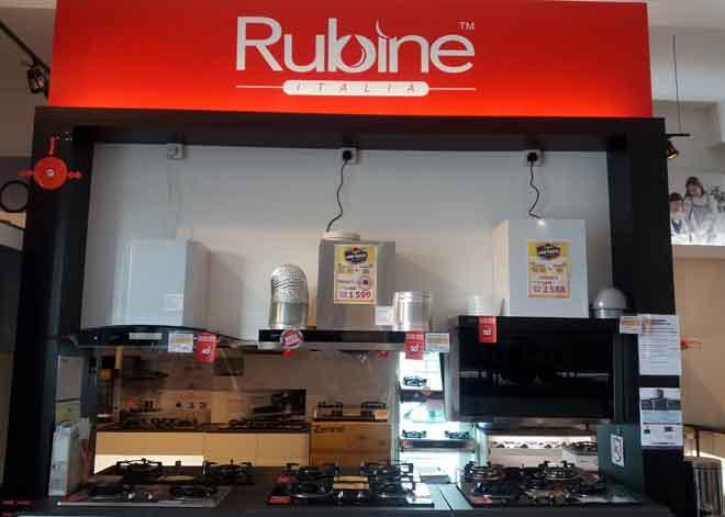 Perkakasan dapur jenama Rubine antara yang banyak dibeli oleh pelanggan.