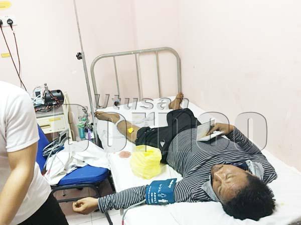 TEKONG bot dalam keadaan stabil dan sedang menerima rawatan di Hospital Lahad Datu.