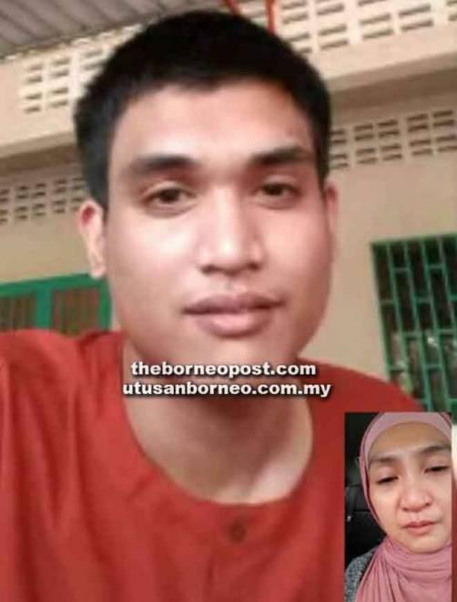 Gambar perbualan video antara Yusuf dan Zunita pada Disember lepas.
