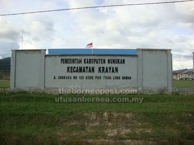 Pejabat pentadbiran daerah Nunukan di Long Bawan.