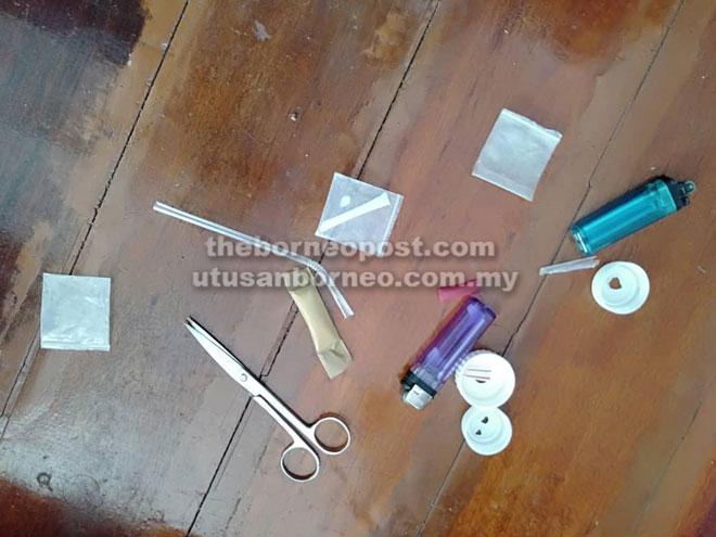 Syabu seberat 2.2 gram serta barang kes lain yang dirampas.