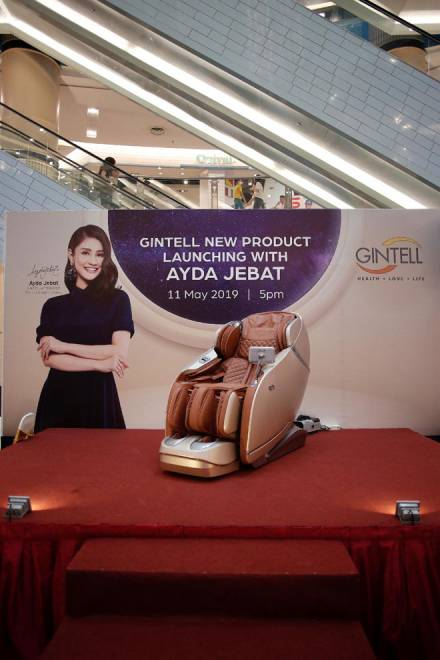 GINTELL melancarkan produk terbaharu GINTELL DéSpace U.F.O.-X, kerusi urut paling 'humanised'.