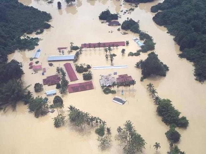 SK Kuala Muput dilanda banjir pada Januari, 2018.