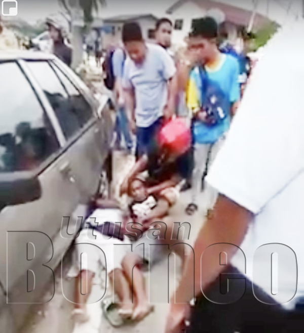 MANGSA selepas dipukul sekumpulan warga asing berhampiran kedai runcit di Kampung Petagas.