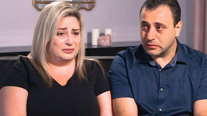 Gambar tidak bertarikh daripada program Peiffer Wolf Carr & Kane menunjukkan Anni dan Ashot menceritakan kisah mereka kepada media. — Gambar AFP