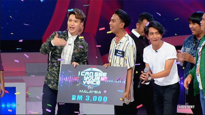 Syahrul berjaya membawa pulang wang tunai RM3,000. — Gambar ihsan TV3