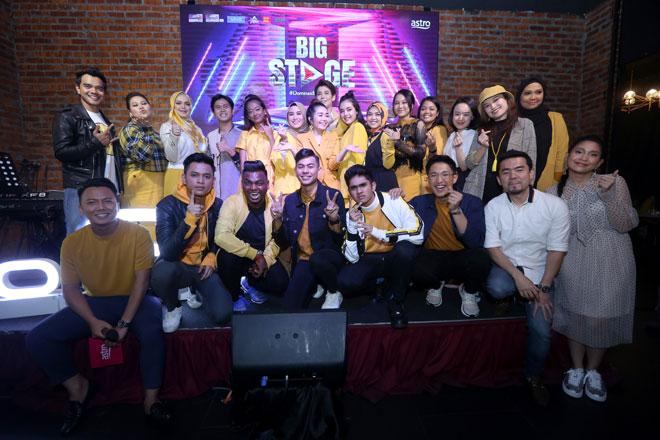 Barisan juri, hos dan bintang-bintang yang menjayakan penganjuran musim kedua sewaktu 'Majlis Sidang Media Big Stage 2019' baru-baru ini.