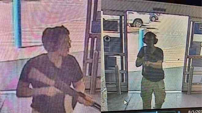 Gambar fail dari rakaman CCTV yang disiarkan oleh Siaran Berita KTSM 9, kelihatan penembak dikenali Patrick Crusius memasuki pasar raya Walmart El Paso pada 3 Ogos lalu. — Gambar AFP