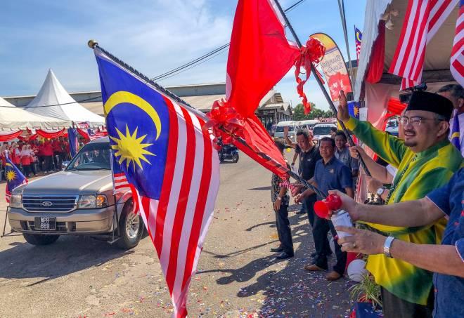 Malaysiaku Bersih' di Pusat Transformasi Luar Bandar (RTC) Tunjong, Kota Bharu, semalam. — Gambar Bernama