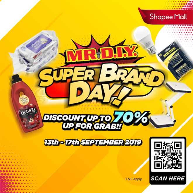 'Shopee's Super Brand Day' dari 13 hingga 17 September ini bersempena Hari Malaysia.
