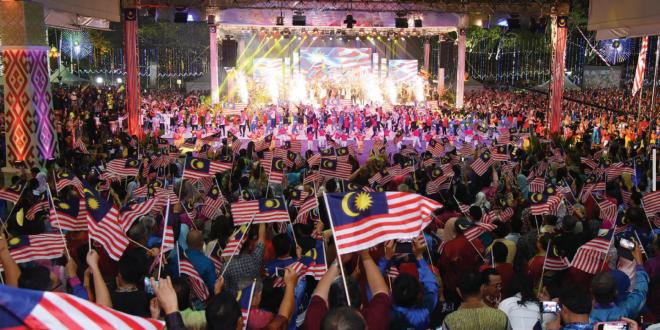 Sambutan Hari Malaysia 2018 yang disambut meriah. - Gambar ihsan Jabatan Penerangan