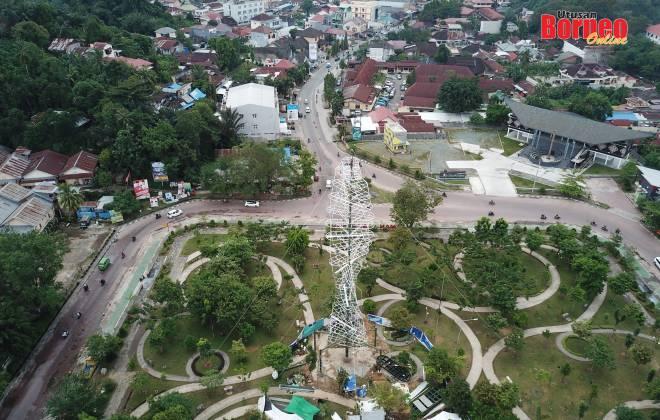 Bandar Samarinda yang kian membangun di Kalimantan Timur.