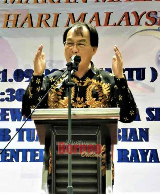 Baru lebuh bejaku maya Pengerami Ma-kai Lemai Nyerumba Hari Malaysia di Selangau, kemari.