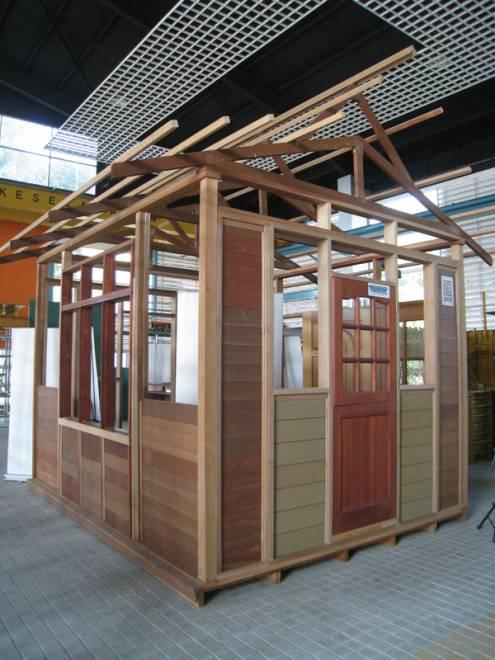 Sistem rangka kayu yang dipamerkan dalam Galeri Komponen IBS - Gambar CIDB