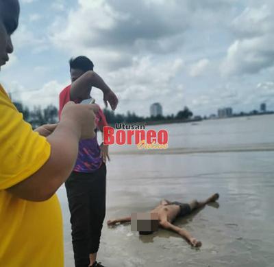 Lelaki dijumpai lemas di kawasan pantai Tanjung Kidurong hari ini.