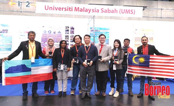 Delegasi UMS ke iENA 2019 merakamkan gambar kenangan.