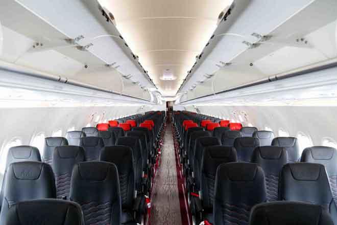 Ruang dalaman A321neo yang lebih panjang dengan tambahan 50 tempat duduk. — Gambar Airbus