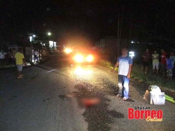 Lokasi kejadian kanak-kanak maut selepas digilis van.