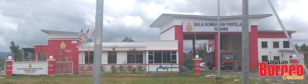 Balai Bomba dan Penyelamat Kimanis yang baru dibina.