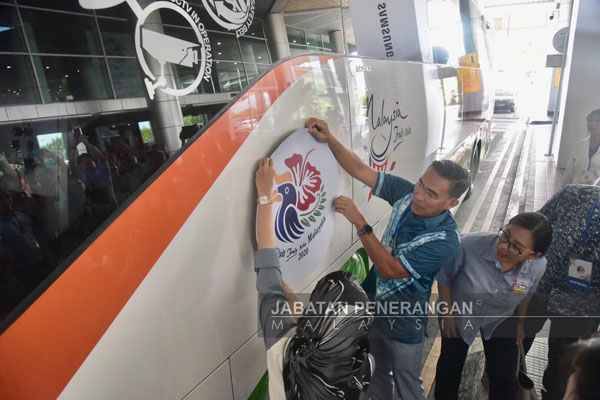 Gimik pelancaran Tahun Melawat Malaysia 2020.