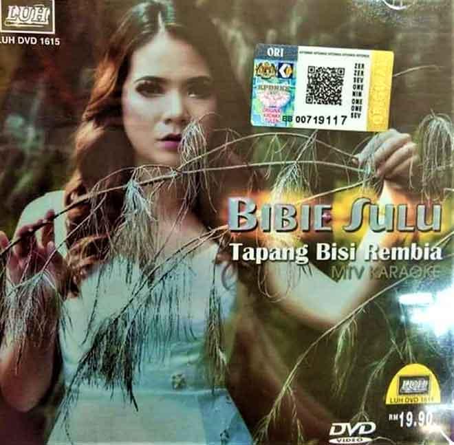Inilah kulit depan album Bibie Sulu yang sudah berada di pasaran.