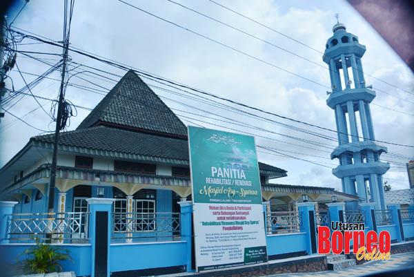 Salah sebuah masjid  di Tanjung Pandan.