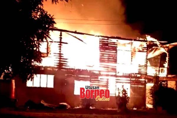 Asrama perempuan Madrasah ADRA musnah dalam kebakaran.