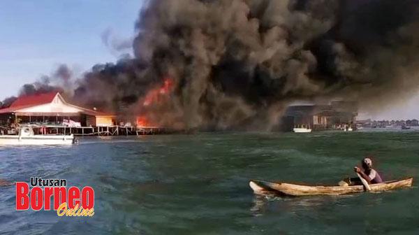 Resort di Pulau Mabul terbakar dan pasukan bomba tidak dapat sampai ke lokasi ekoran cuaca tidak mengizinkan.