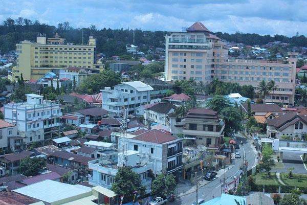 Salah satu sisi pemandangan kota Balikpapan.