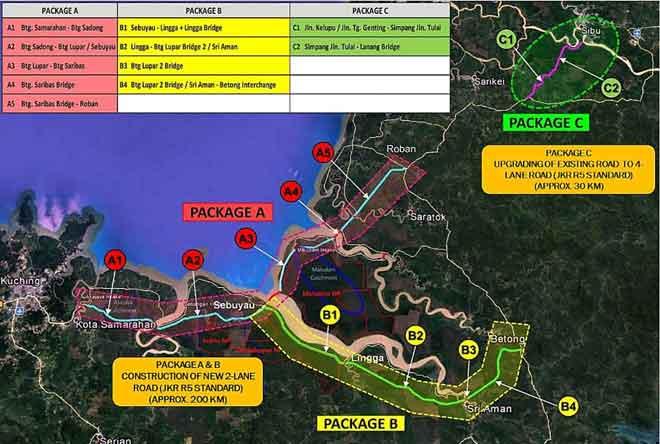 Lakaran peta cadangan projek STR.
