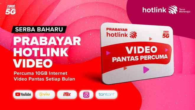 Prabayar serba baharu, Hotlink Prepaid Video.