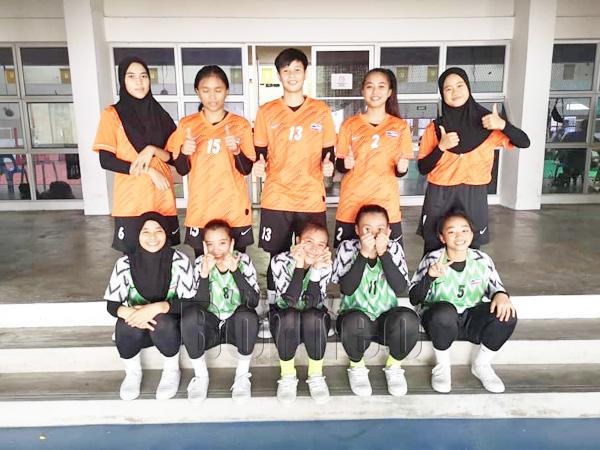 Pemain sepak takraw wanita SUKMA Sabah kembali menjalani latuhan bersama di gelanggang KSKK.
