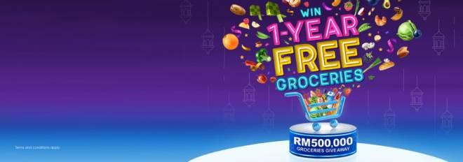 Pelanggan Celcom berpeluang memenangi barangan runcit secara percuma selama setahun menerusi Pemberian Percuma Barangan Runcit bernilai RM500,000.