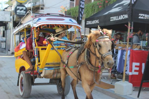 Kereta kuda yang disebut Cidomo di Gili Trawangan.